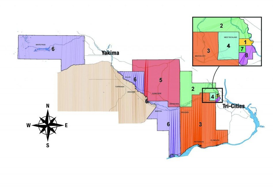 Benton REA Board District Map