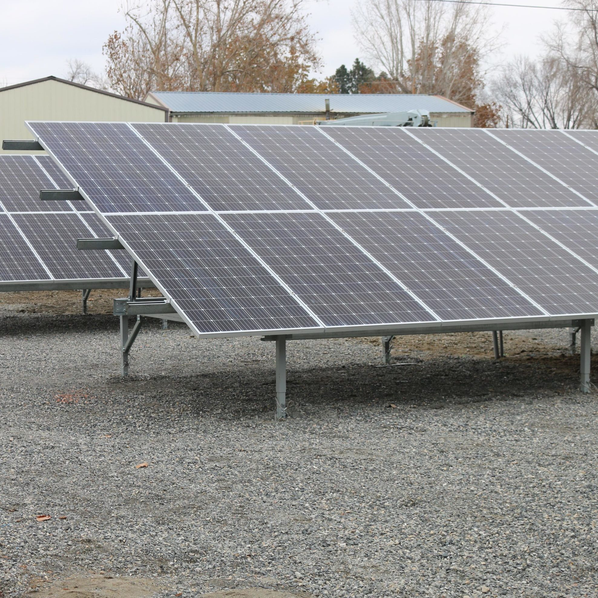 Solar panels at Benton REA's Community Solar Project