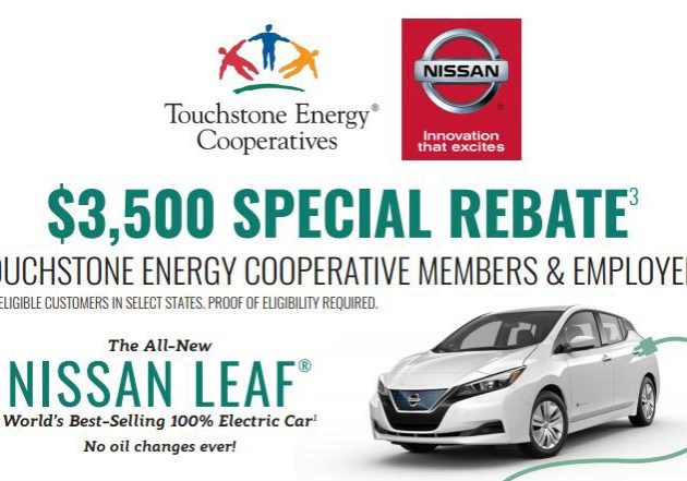 $3,500 Special Rebate Nissan Leaf Flyer