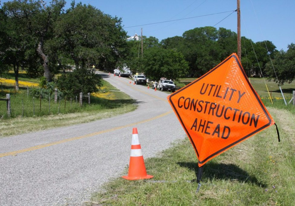 Warning Sign - Utility Construction Ahead